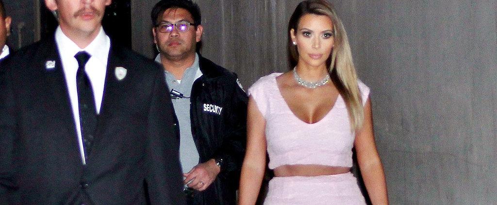 Kim Just Cut Her Dior Dress In Half