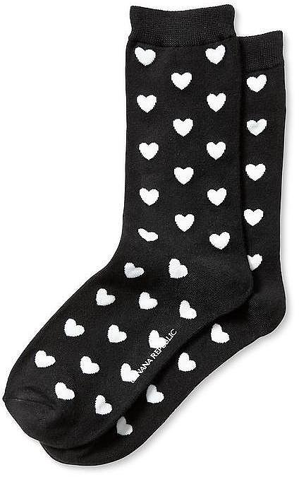 Banana Republic Heart Socks