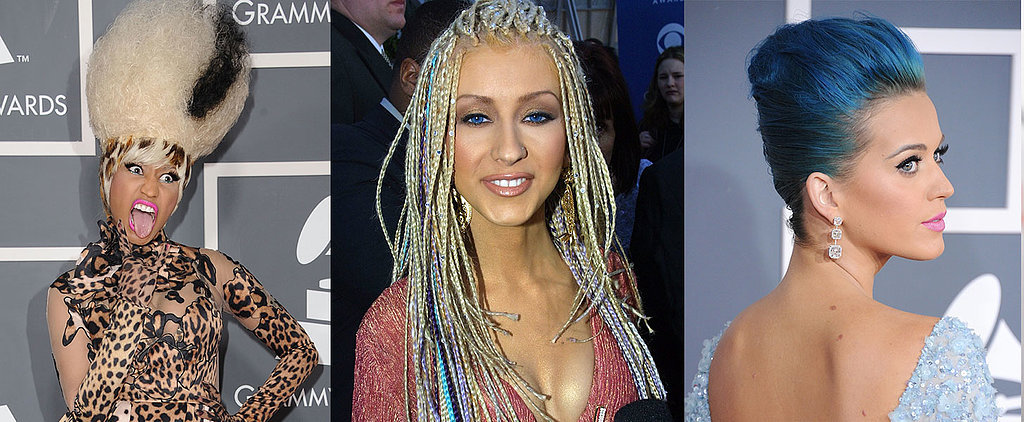A Decade of the Most Outrageous Grammys Beauty Looks