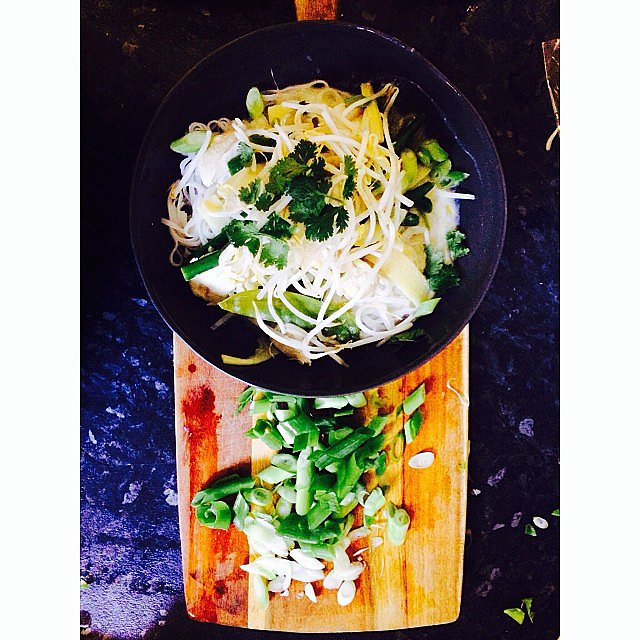 Um, yum. Health and fitness journalist Steph whipped up this green chicken noodle salad over the weekend. Looks good, no?