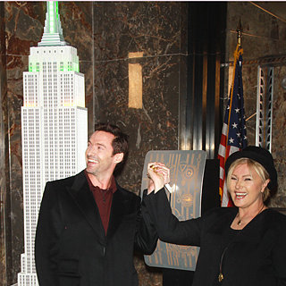 Hugh Jackman & Deborra-Lee Furness Empire State Building