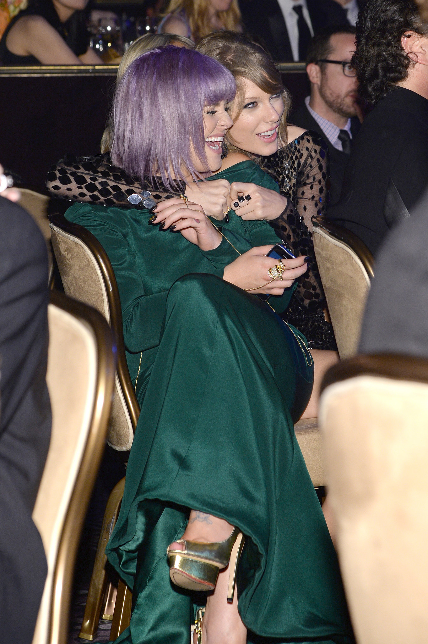 Kelly Osbourne and Taylor Swift goofed around.