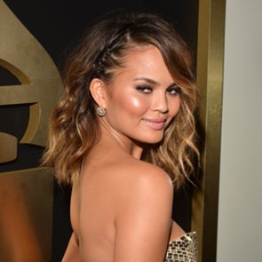 Chrissy Teigen's Hair and Makeup at the Grammys 2014