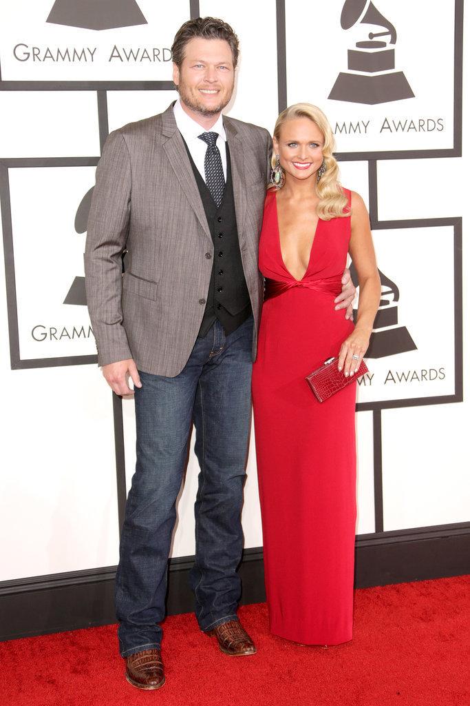 Blake Shelton and Miranda Lambert made a sweet pair at the 2014 Grammy Awards.