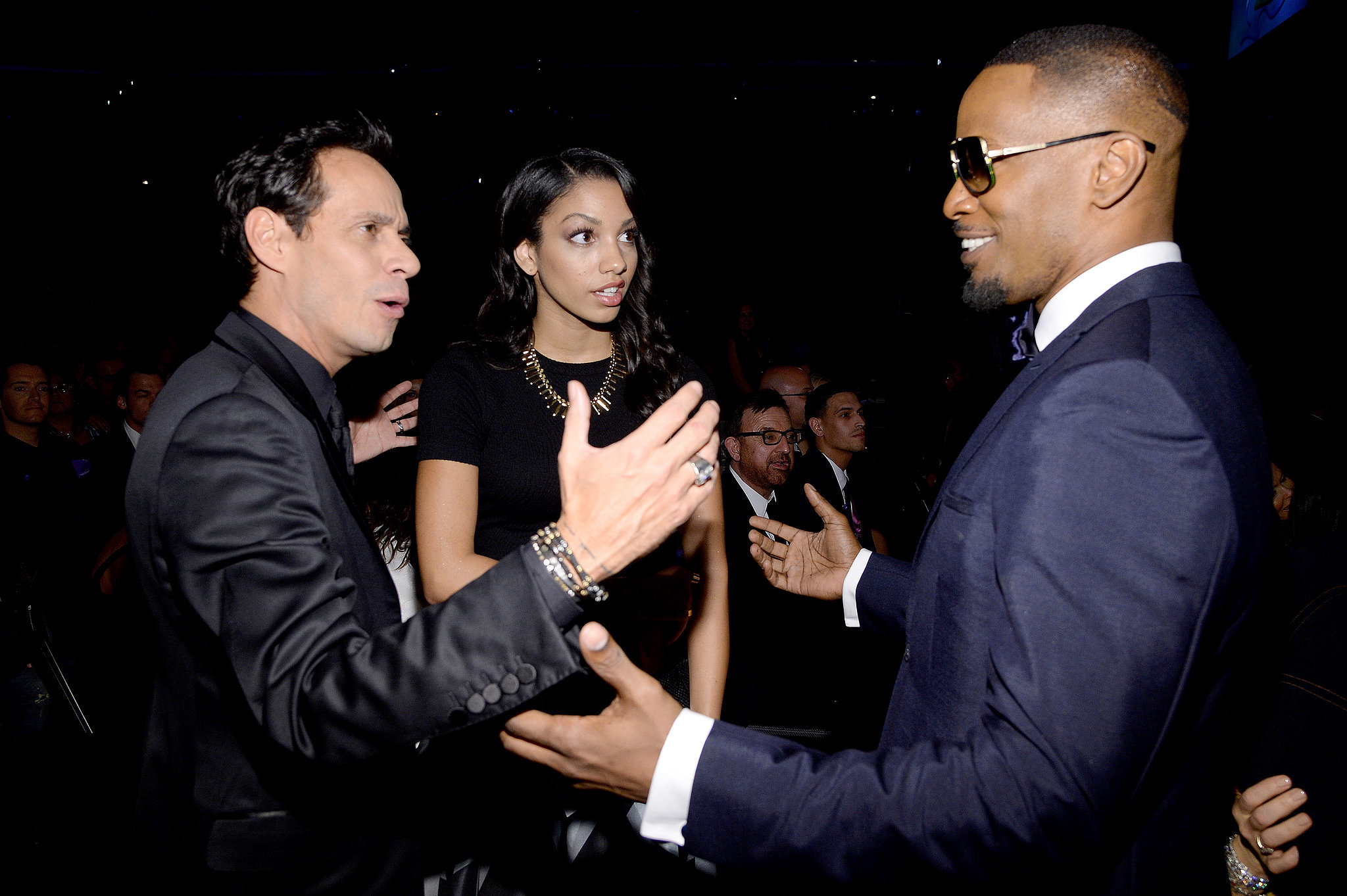 Marc Anthony met up with Jamie Foxx and his daughter Corinne.