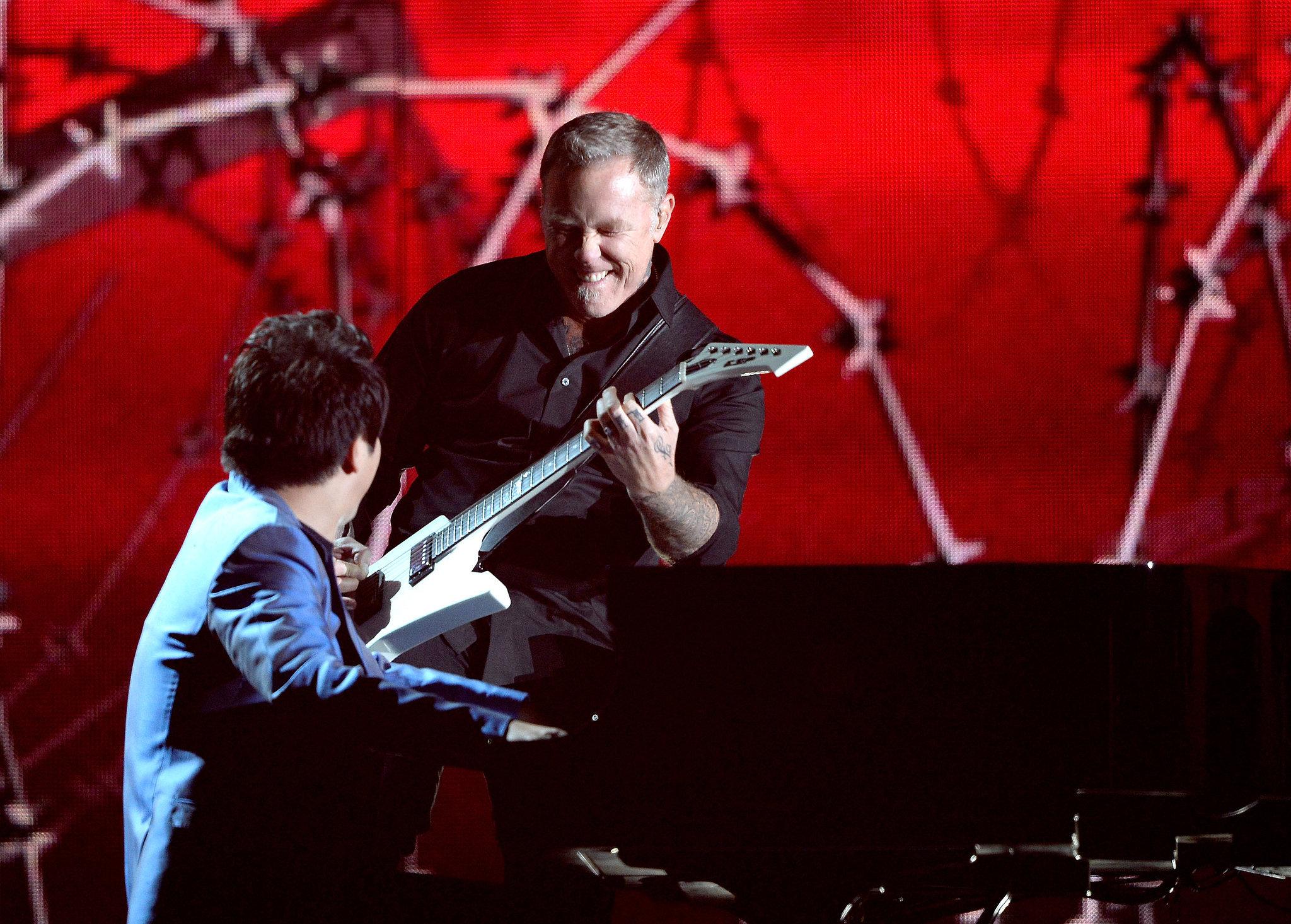Metallica's James Hetfield and pianist Lang Lang performed together.