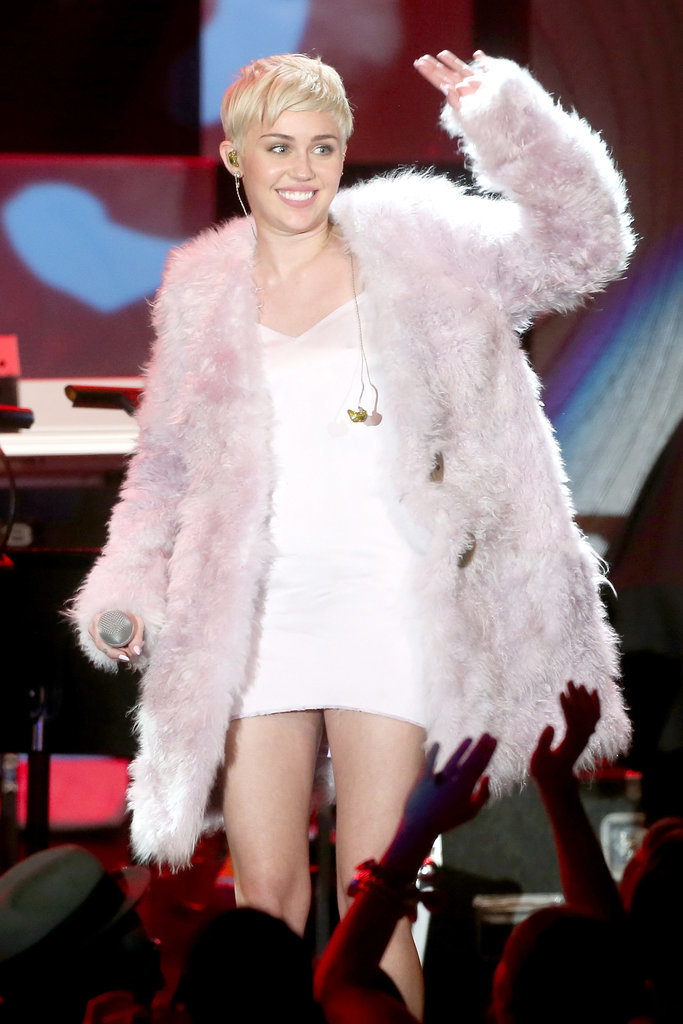 Miley Cyrus connected with the audience.