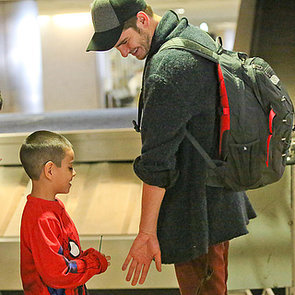 Andrew Garfield With a Kid in a Spider-Man Shirt | Pictures