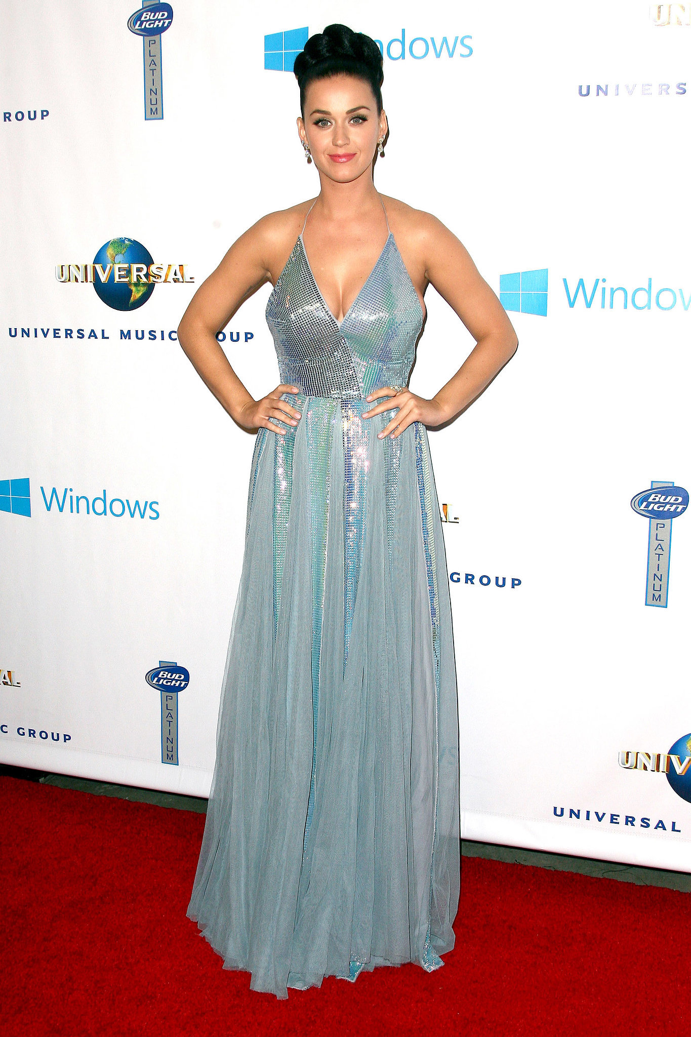 Katy Perry in Blue Dress | Stars Get Sexy For the Grammys ...