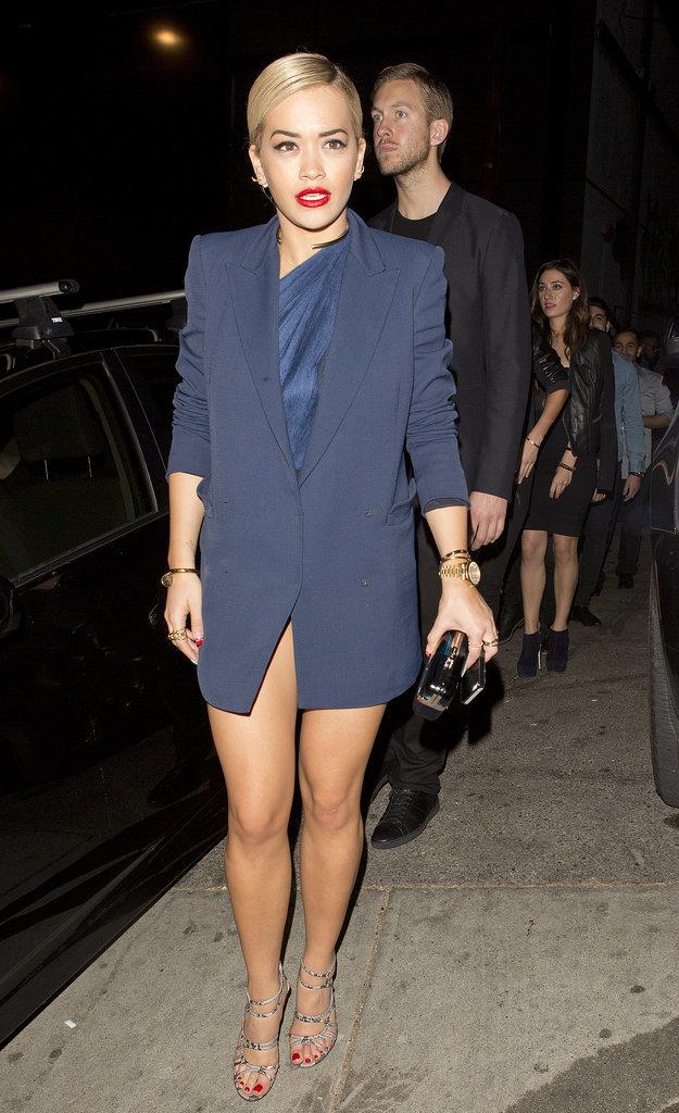 Rita Ora in Blue Outfit
