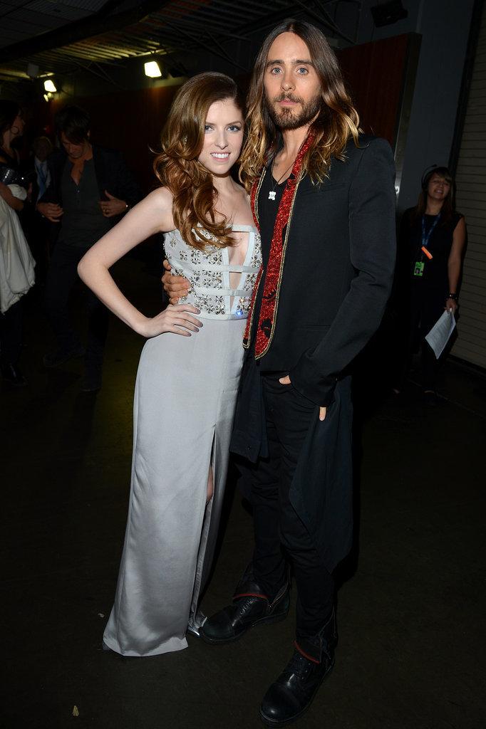 Anna Kendrick posed next to Jared Leto.