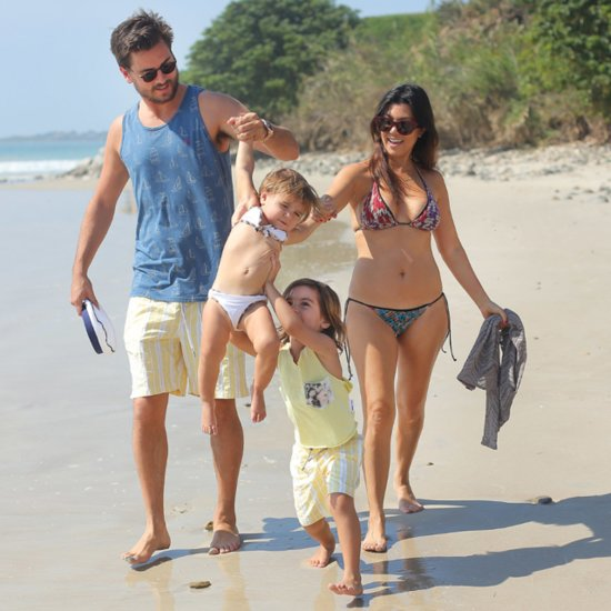 Kourtney Kardashian and Scott Disick With Penelope and Mason