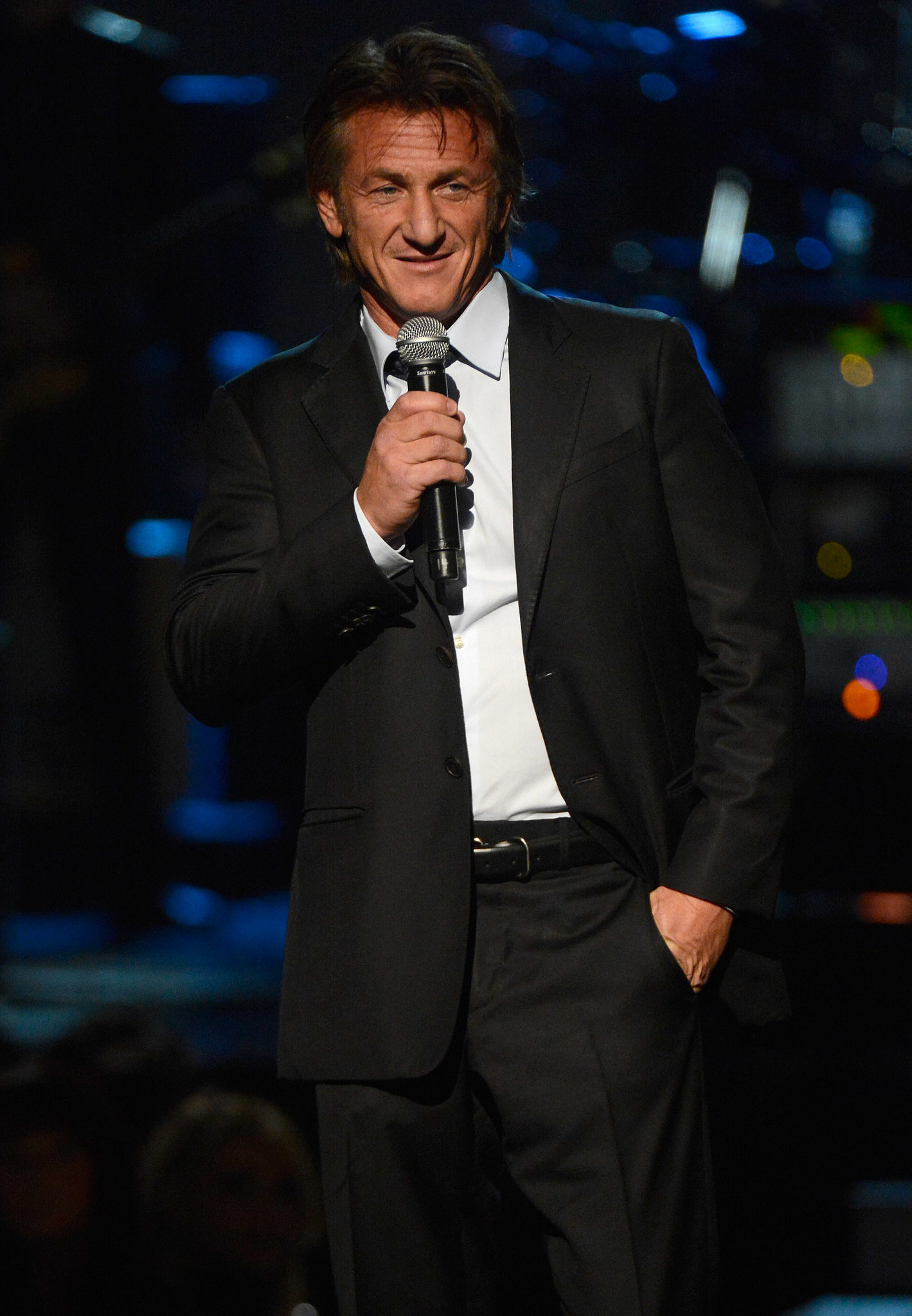 Sean Penn presented at the show.