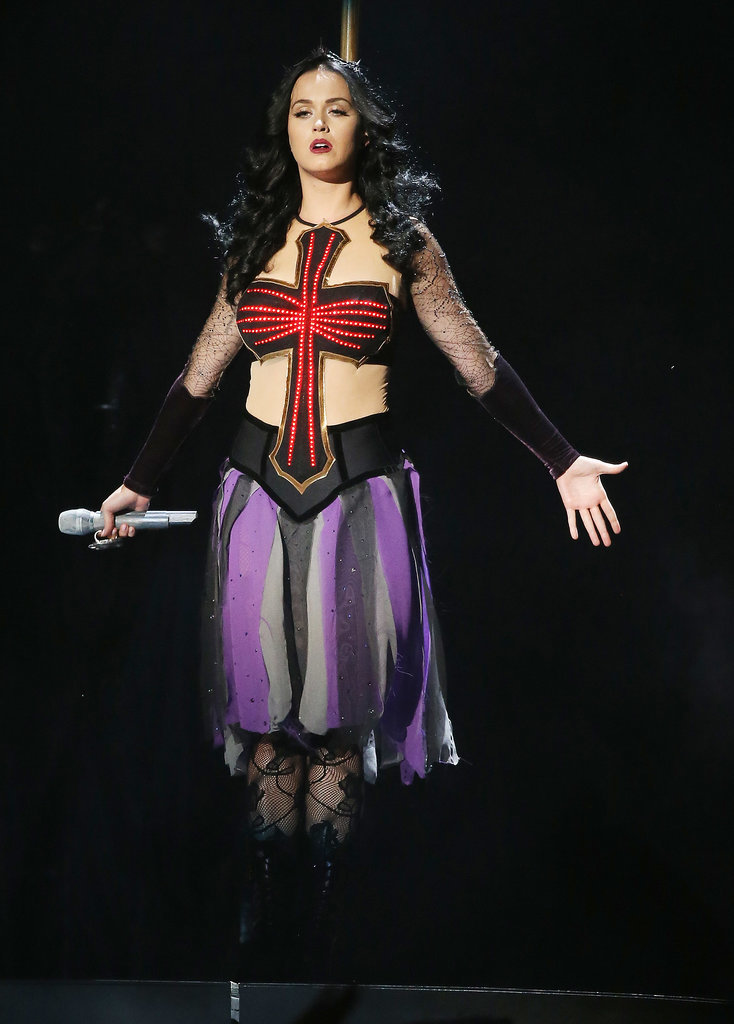 Katy Perry got witchy for her performance at the Grammys.