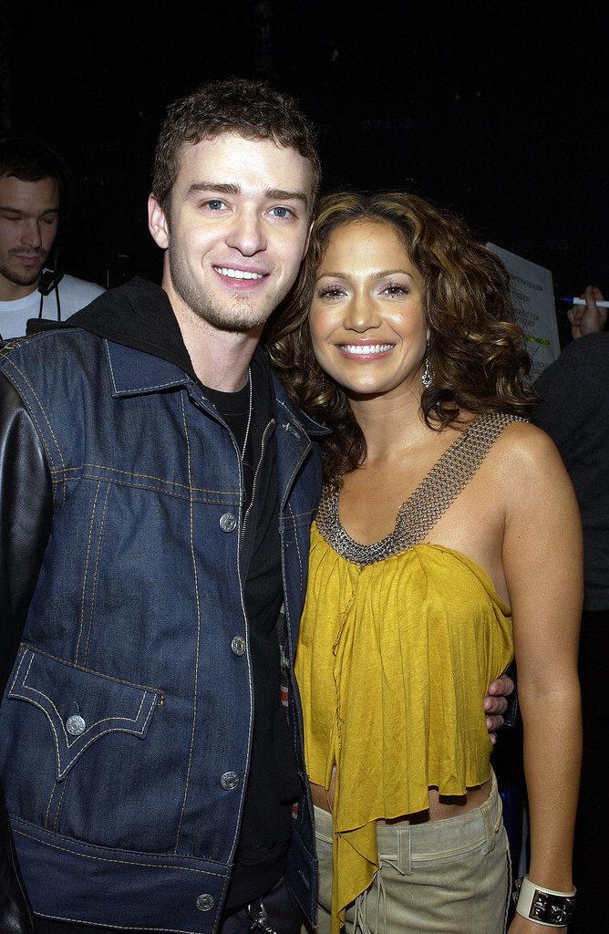 Justin and Jennifer Lopez were together in November 2002 for MTV's TRL.