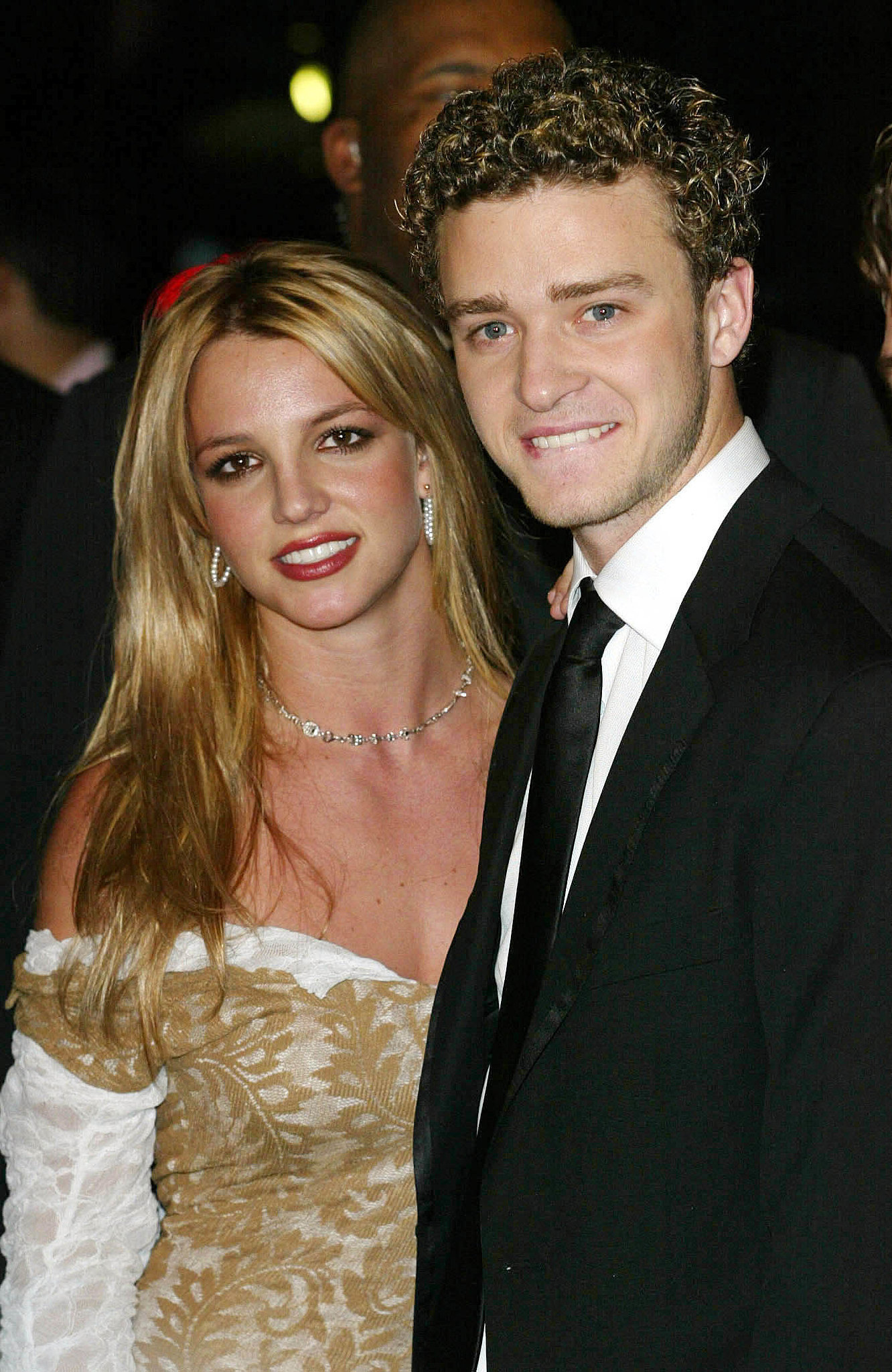 Justin and then-girlfriend Britney Spears arrived together ...