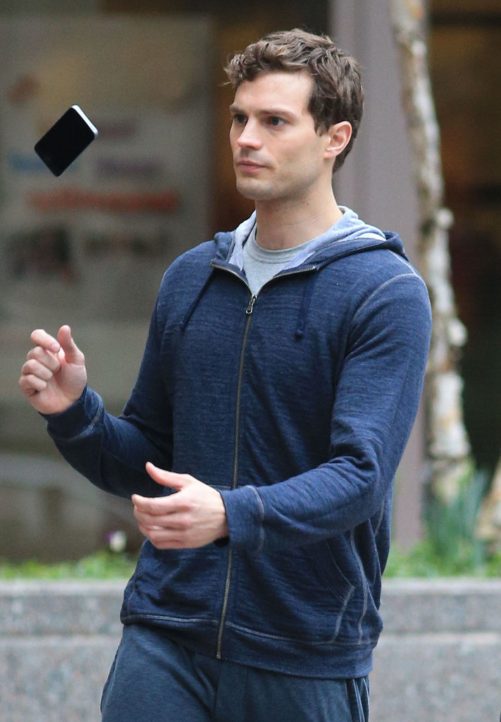 Dornan is particularly good at tossing that phone, but yikes.