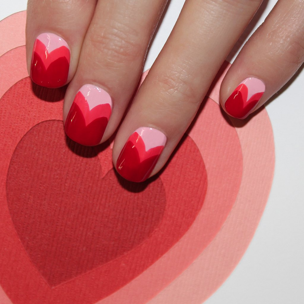 Heart Nail Art: Valentine's Day Heart Nail Art By Jin Soon