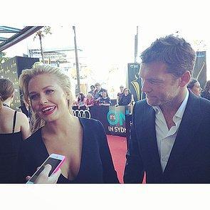 POPSUGAR Australia Instagram: Lara Bingle & Sam Worthington