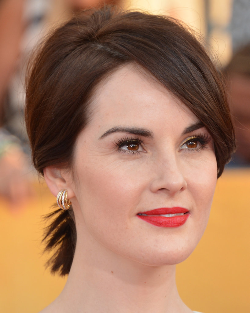 Have a shoulder-length bob? You, too, can wear a short pony. Just take Michelle Dockery's SAG Awards look as an example.