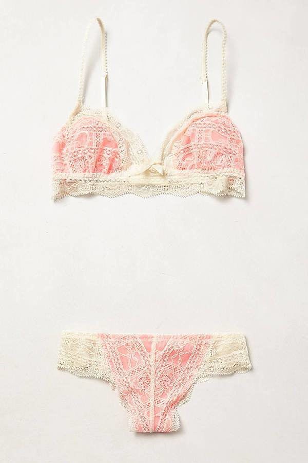 Eberjey Lace Coral Set
