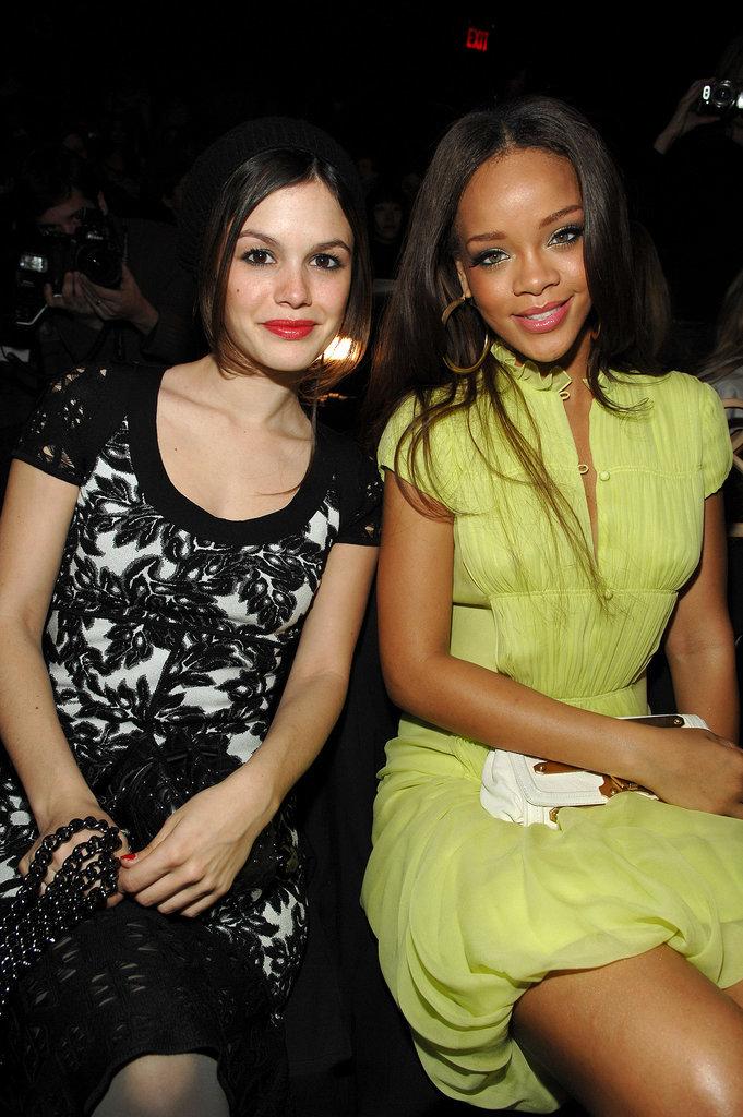 Rihanna and Rachel Bilson posed at Zac Posen in September 2007.