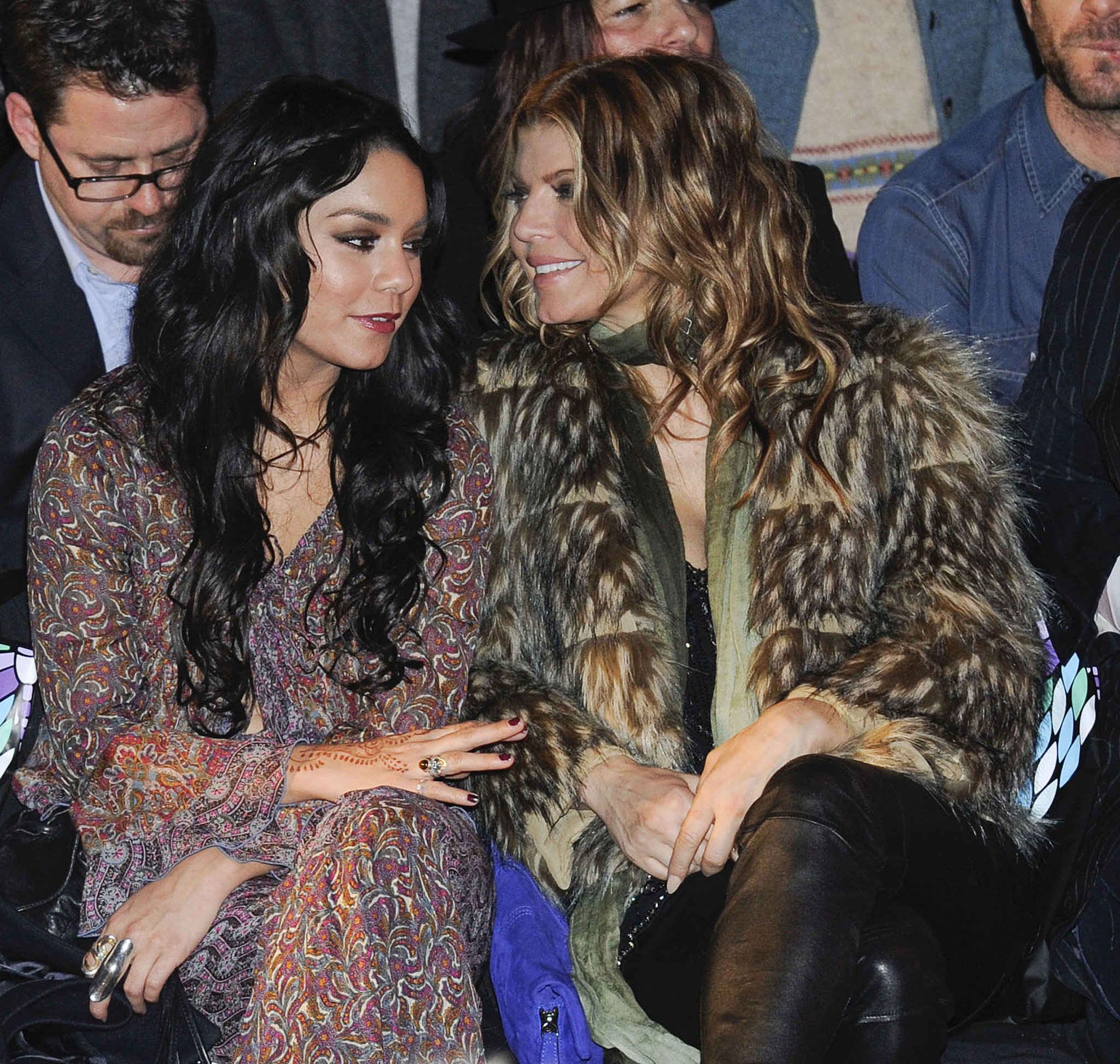 Vanessa Hudgens and Fergie sat close at Anna Sui in September 2011.