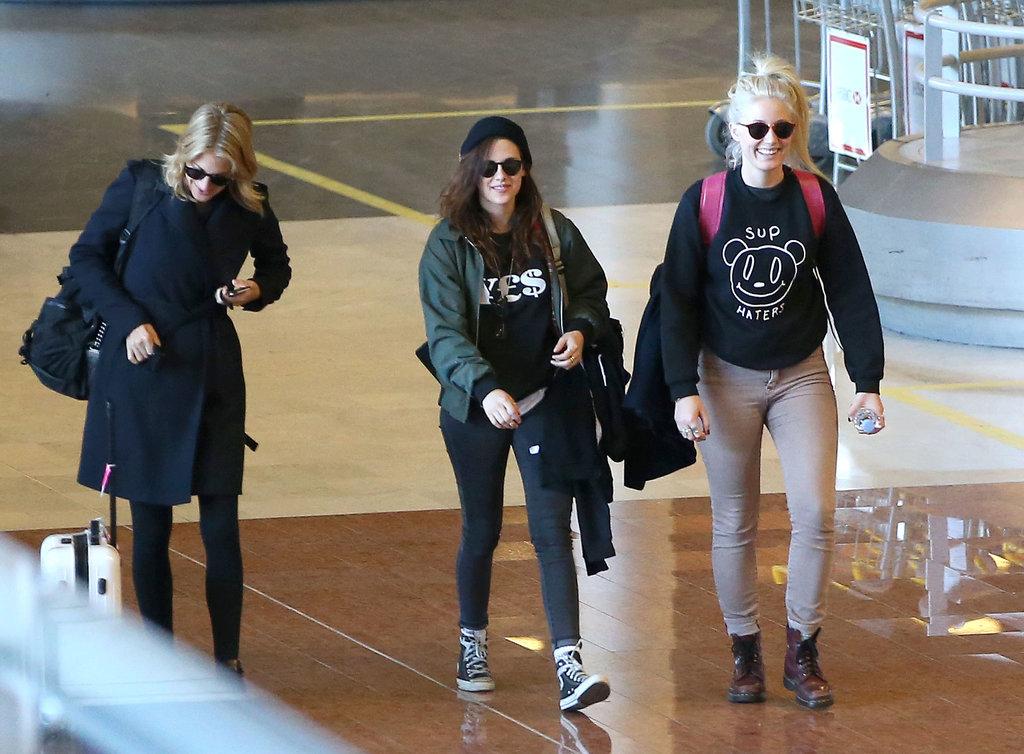 Kristen Stewart Heads Straight to Chanel After Landing in Paris
