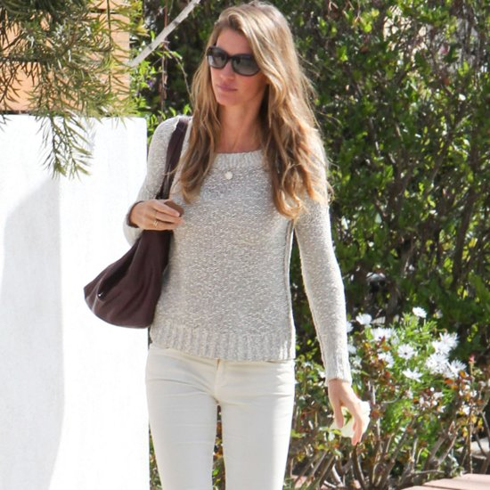 Gisele Bundchen White Jeans and Sweater Style
