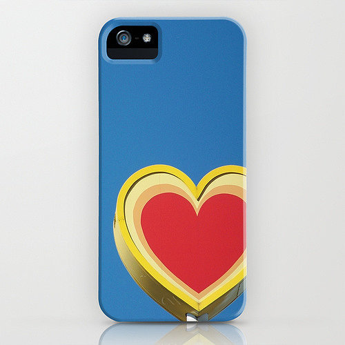 Heart and skies case ($35) for iPhone models and Samsung Galaxy S4