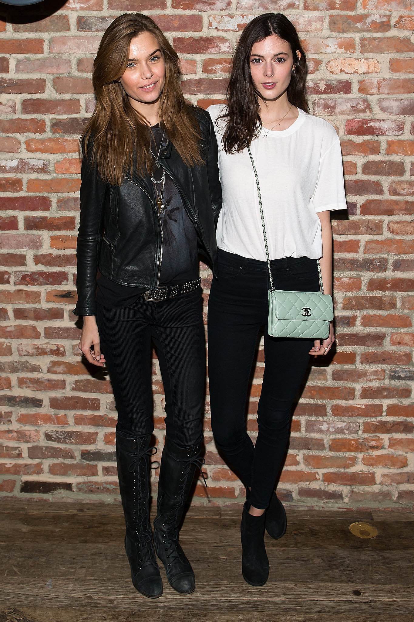 Josephine Skriver and Sadie Newman at Modelinia's pre-Fashion Week dinner in New York.