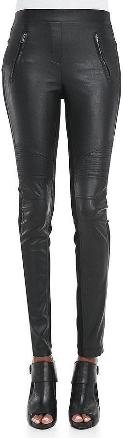 BCBG Max Azria Faux-Leather/Ponte Leggings ($158)