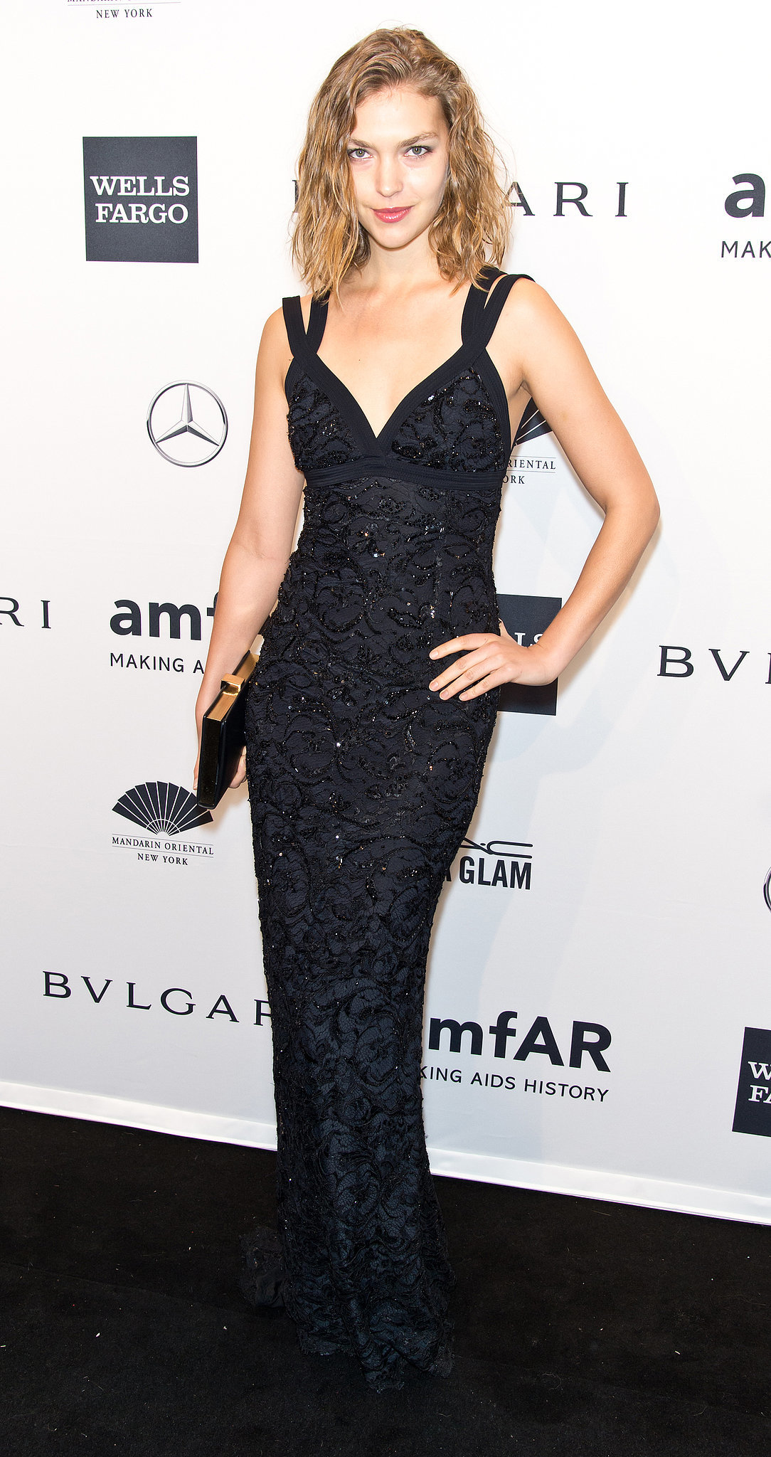 Arizona Muse at amfAR's New York Gala.
