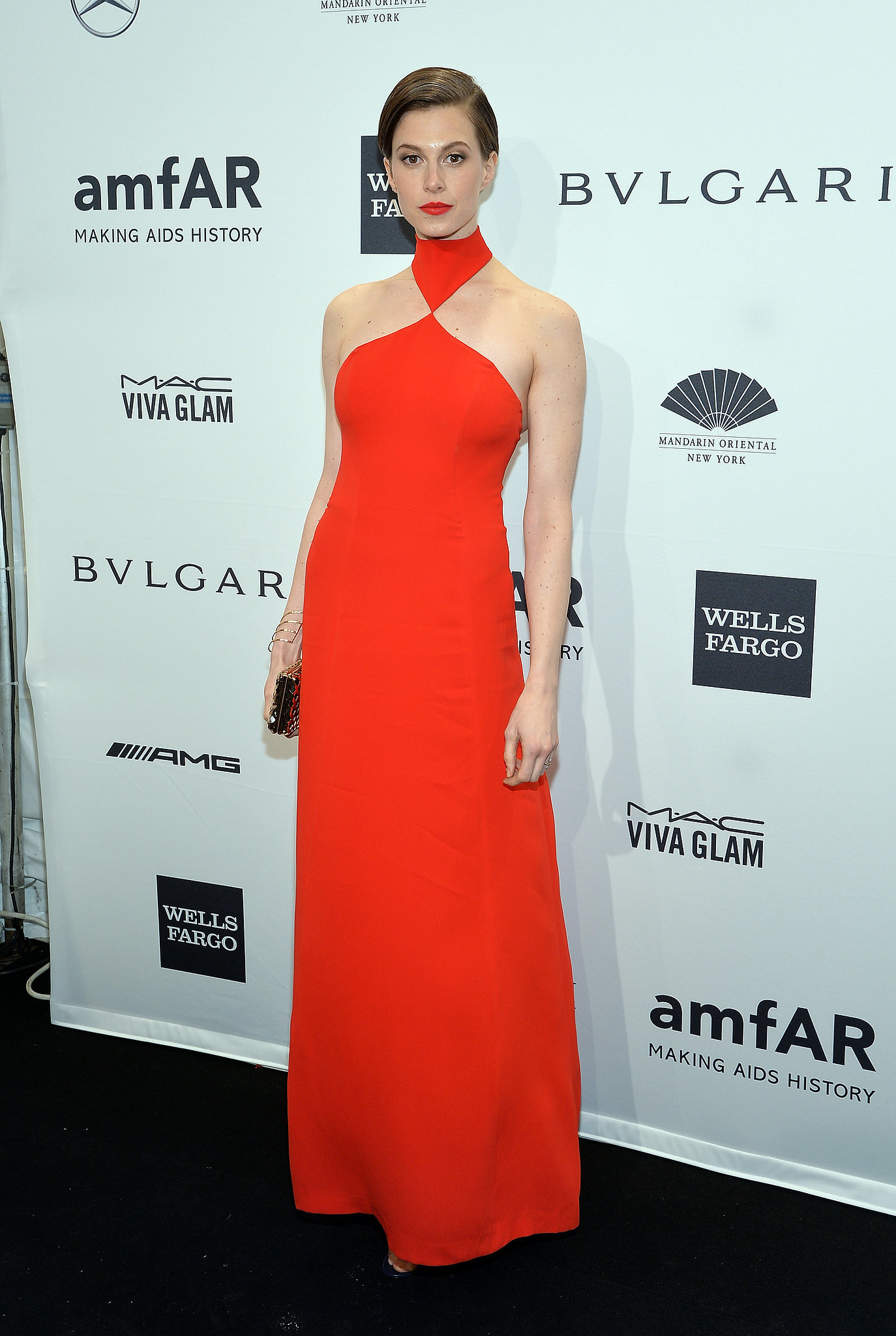 Elettra Wiedemann, wearing Ana Khouri, at amfAR's New York Gala.