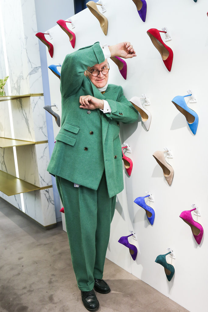 Manolo Blahnik at a meet and greet hosted by Barneys New York in New York.