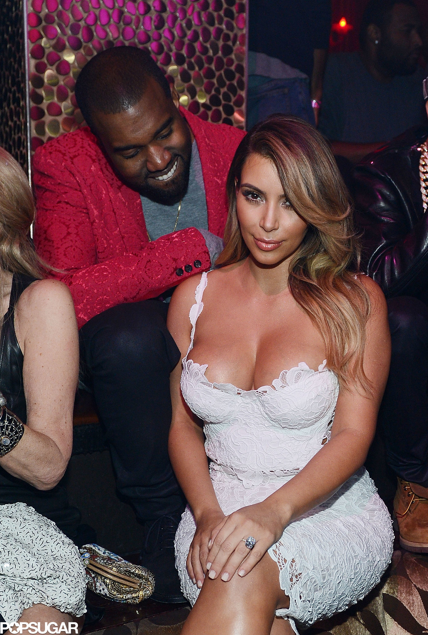 Kanye couldn't keep his eye off Kim during an October 2013 trip to Las Vegas to celebrate her birthday.