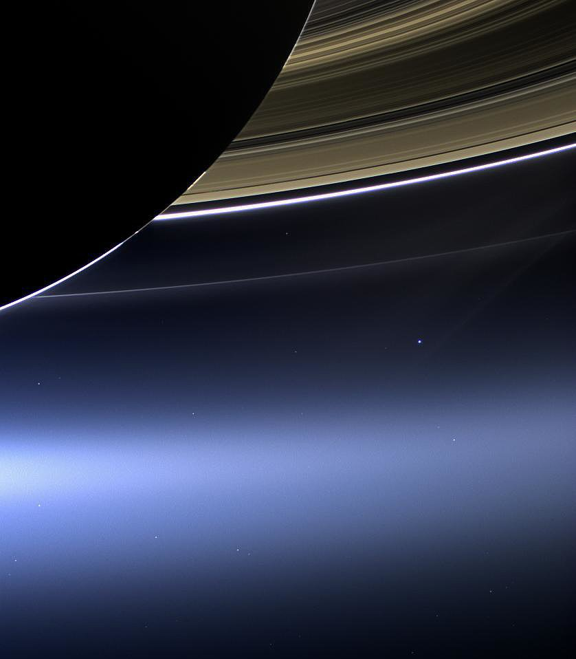 In this incredible photo taken on July 19, 2013, a wide-angle camera on NASA's Cassini spacecraft captures Saturn's rings, Earth, and its moon in the same frame. Source: NASA/JPL-Caltech/Space Science Institute