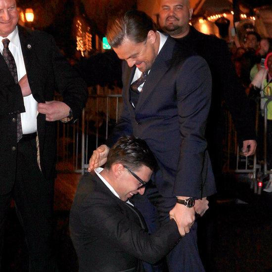 Leonardo DiCaprio Getting His Crotch Hugged
