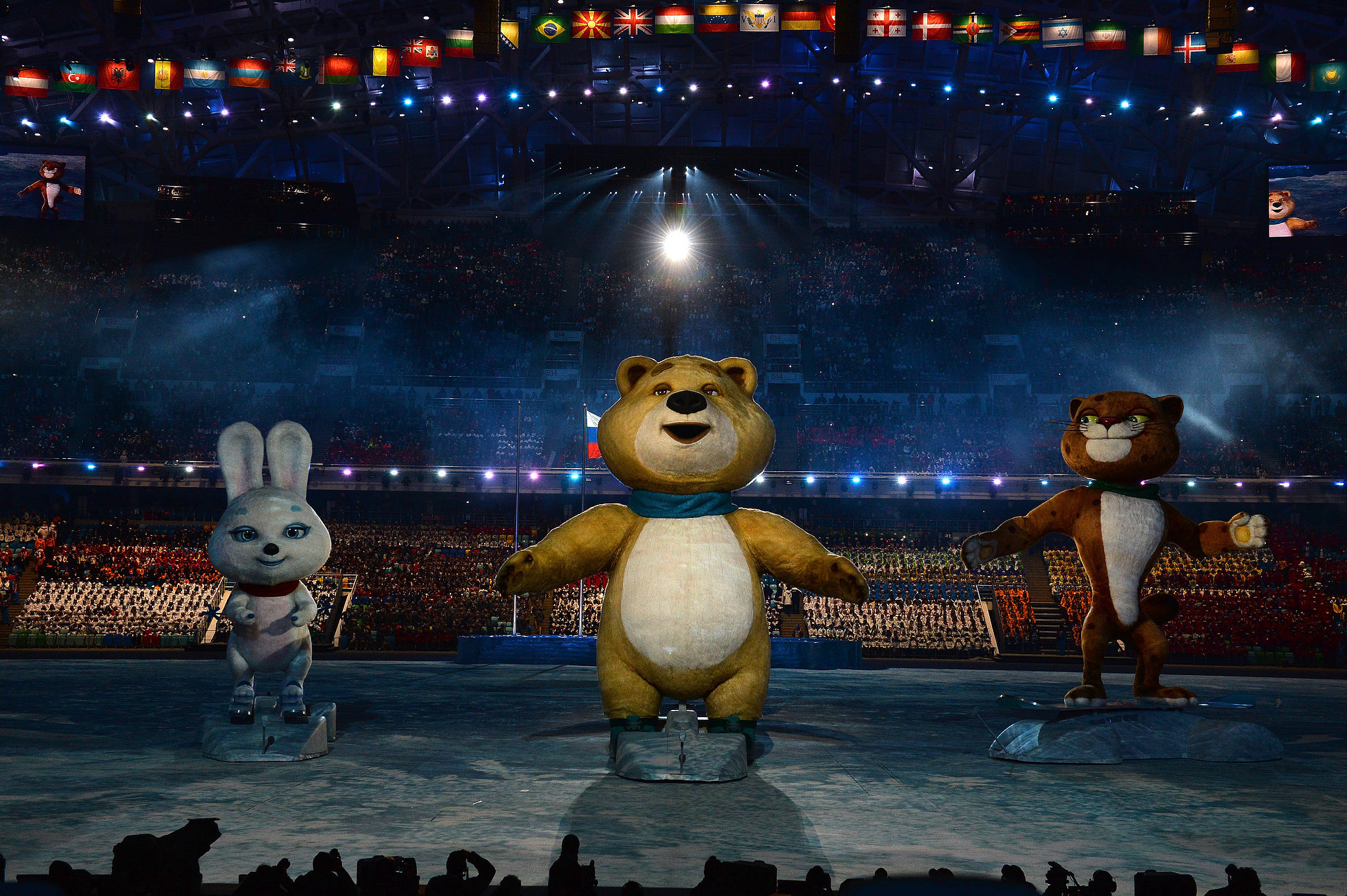 The Olympic mascots made an appearance during the opening ceremony.