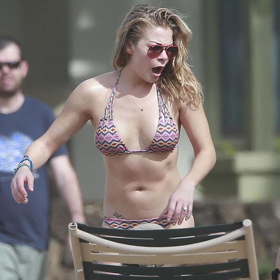 LeAnn Rimes in a Bikini With Eddie Cibrian in Hawaii