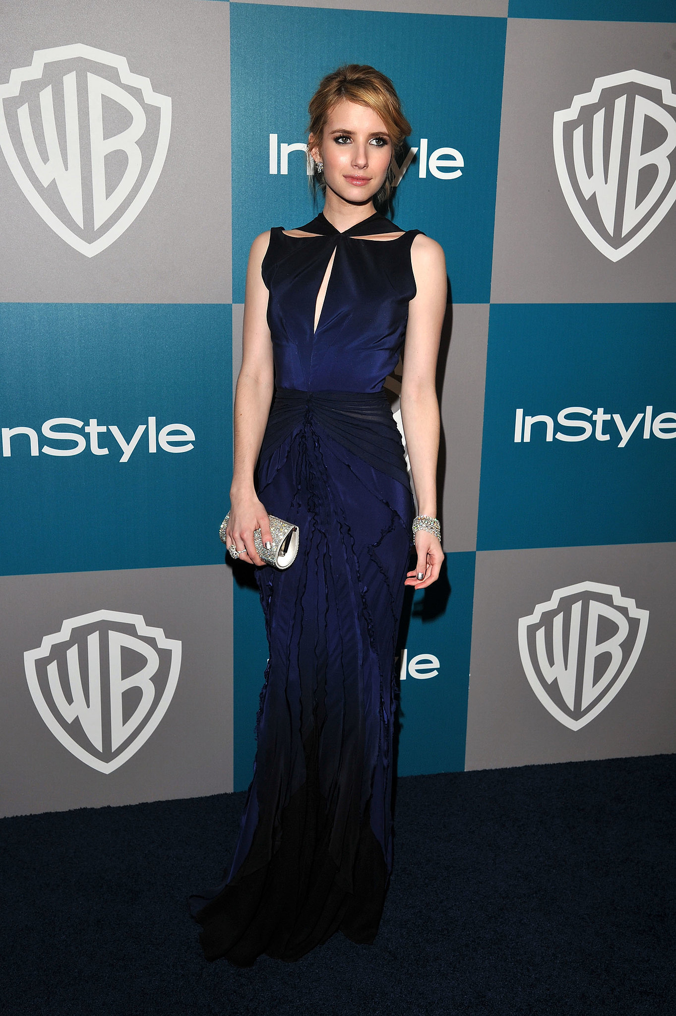 Emma stunned in a cutout Zac Posen gown for the Golden Globes InStyle afterparty in January 2012.