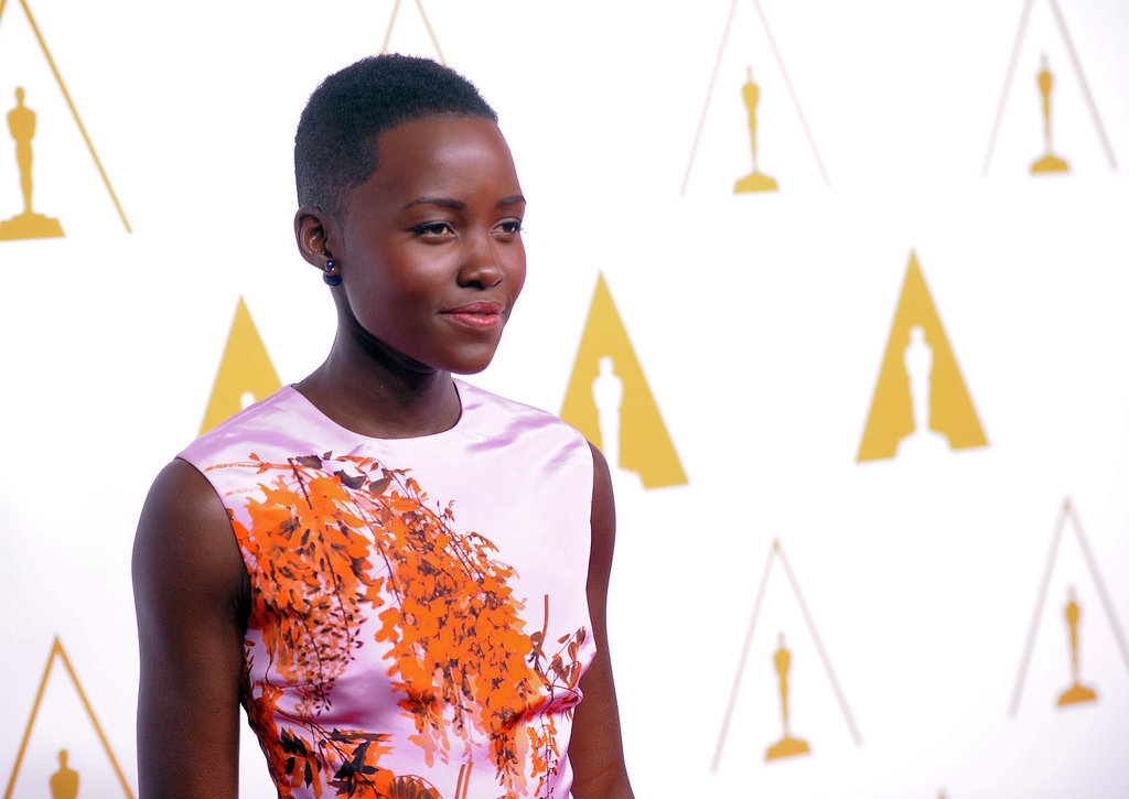 Lupita Nyong'o glowed in a brightly colored dress.