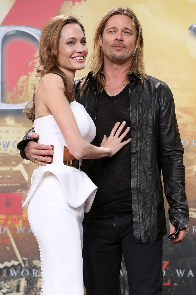 Brad and Angelina couldn't keep their hands off each other at the Berlin premiere of World War Z in June 2013.