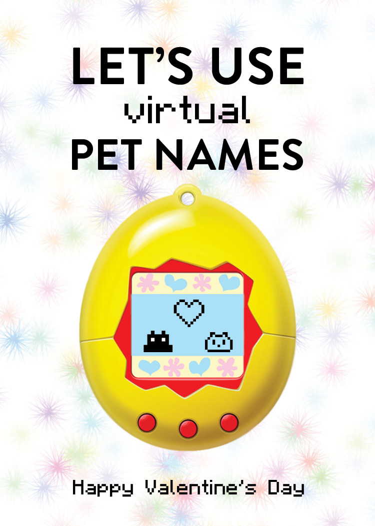 Let's use (virtual) pet names.
