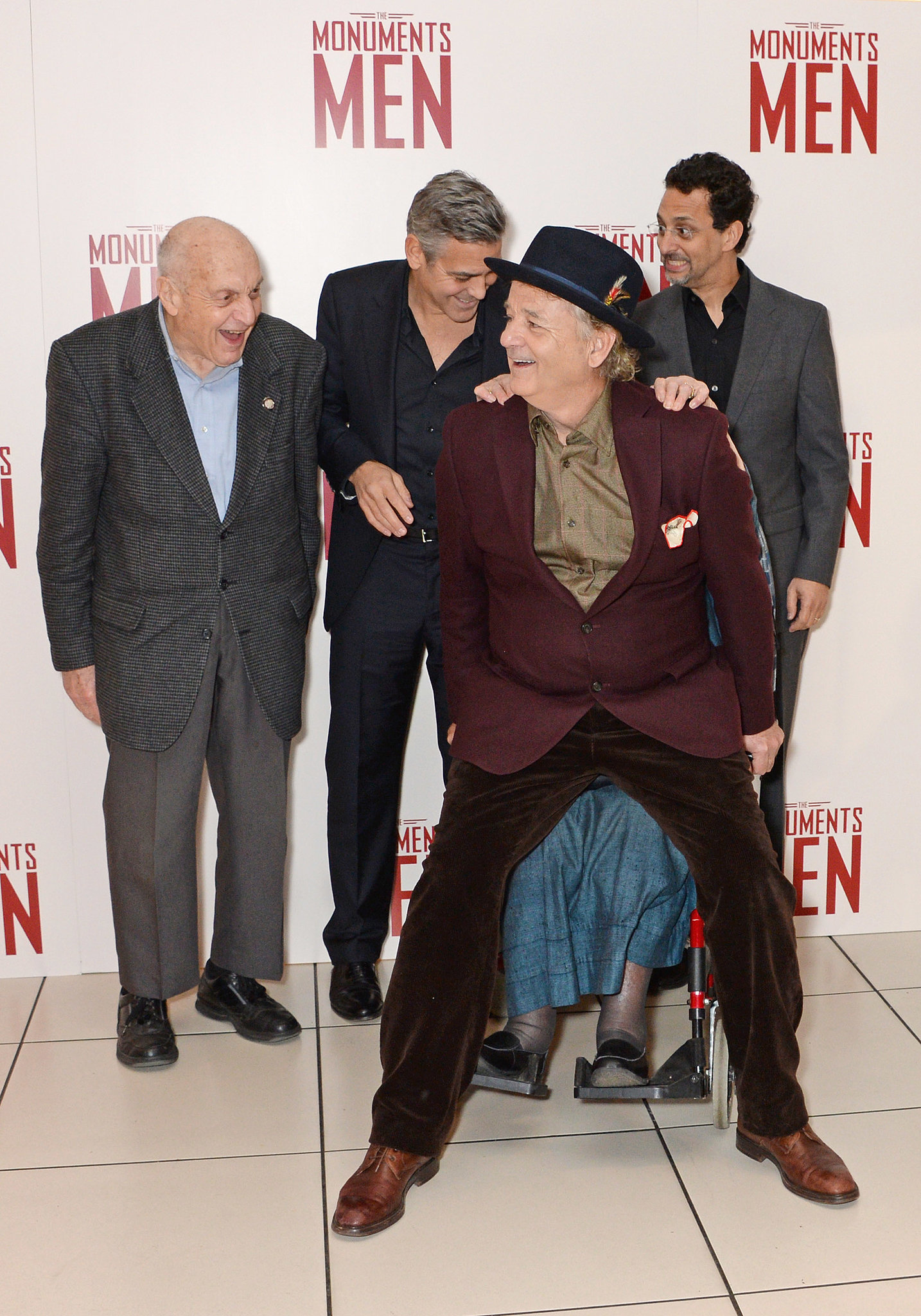 "Then he twerked on a surviving ""monuments man,"" who was in a wheelchair."
