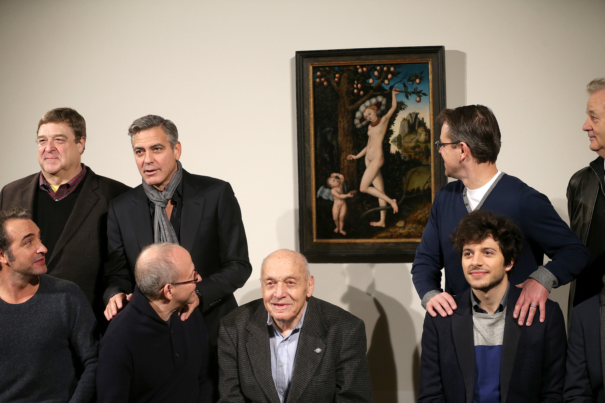 Once the guys got to London, all bets were off. They couldn't even keep it together in front of a nude painting.