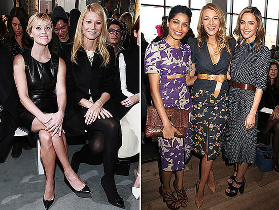 Gwyneth, Reese and Diane Can't Resist a Duckface Selfie at Fashion Week