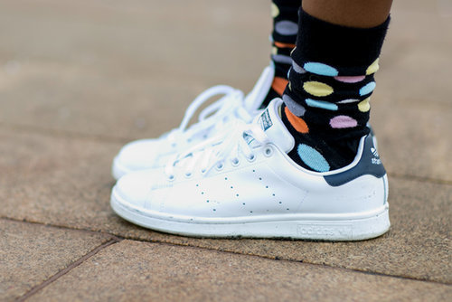 These dotted socks and old-school kicks gave us middle-school flashbacks in the best way possible.
