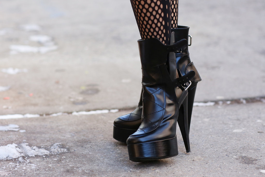 Chunky boots with a little sex appeal.