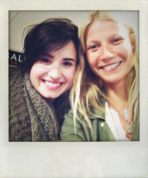 When Gwyneth Paltrow saw Demi Lovato on her flight, she just had to take a selfie.
